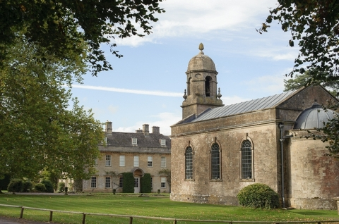 Babington House and St Margaret's Chapel on a wedding day