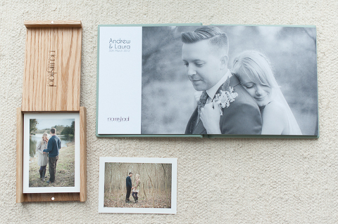oak fine art print box and fine art wedding album